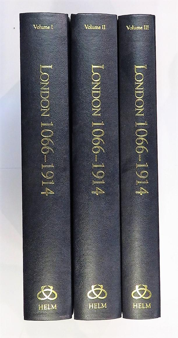 London 1066-1914 Literary Sources and Documents three volume set