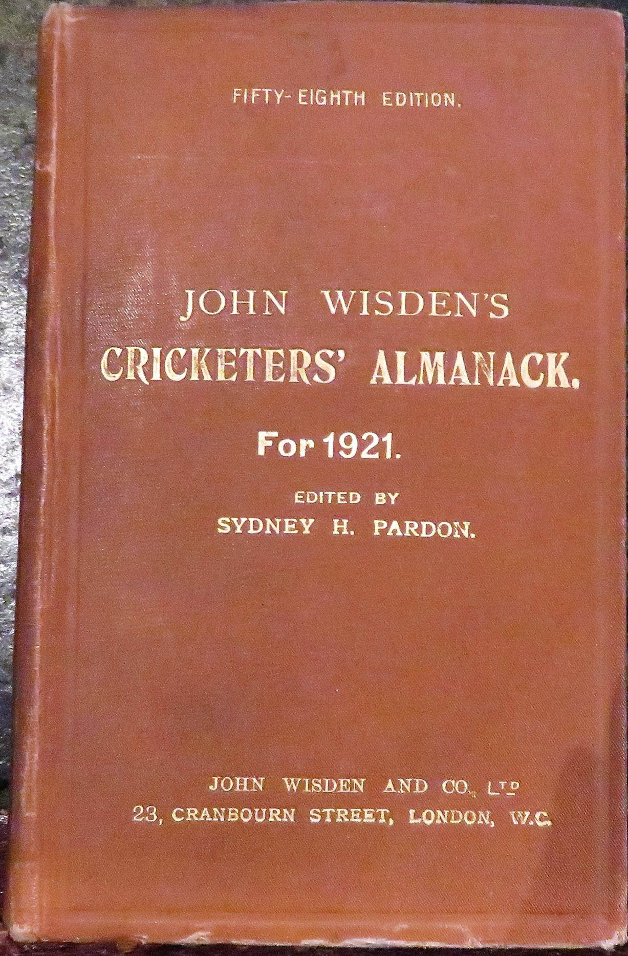 **John Wisden's Cricketers' Almanack For 1921**