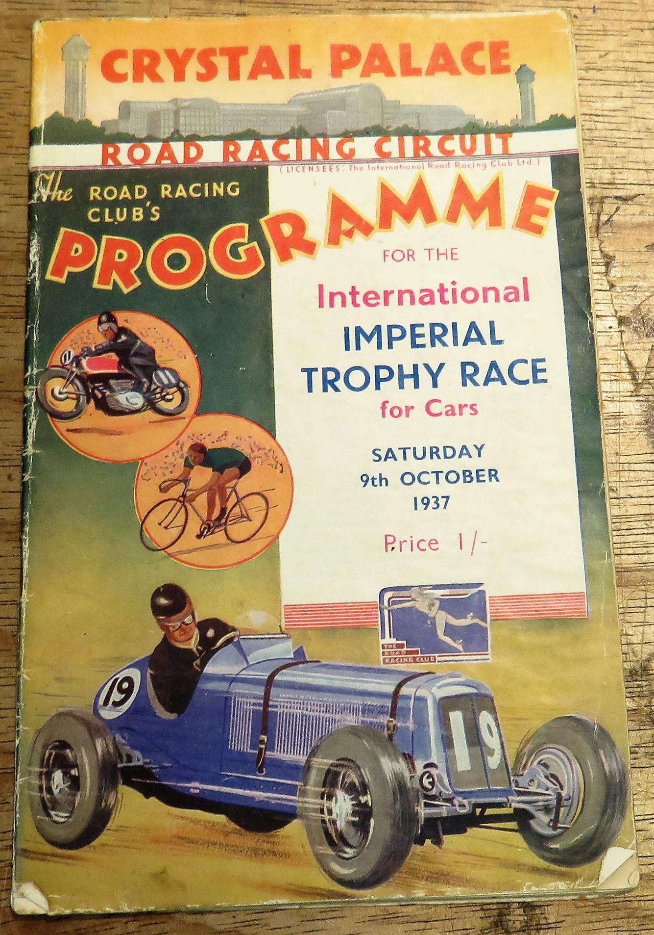 The Road Racing Club's International Imperial Trophy Race for Cars