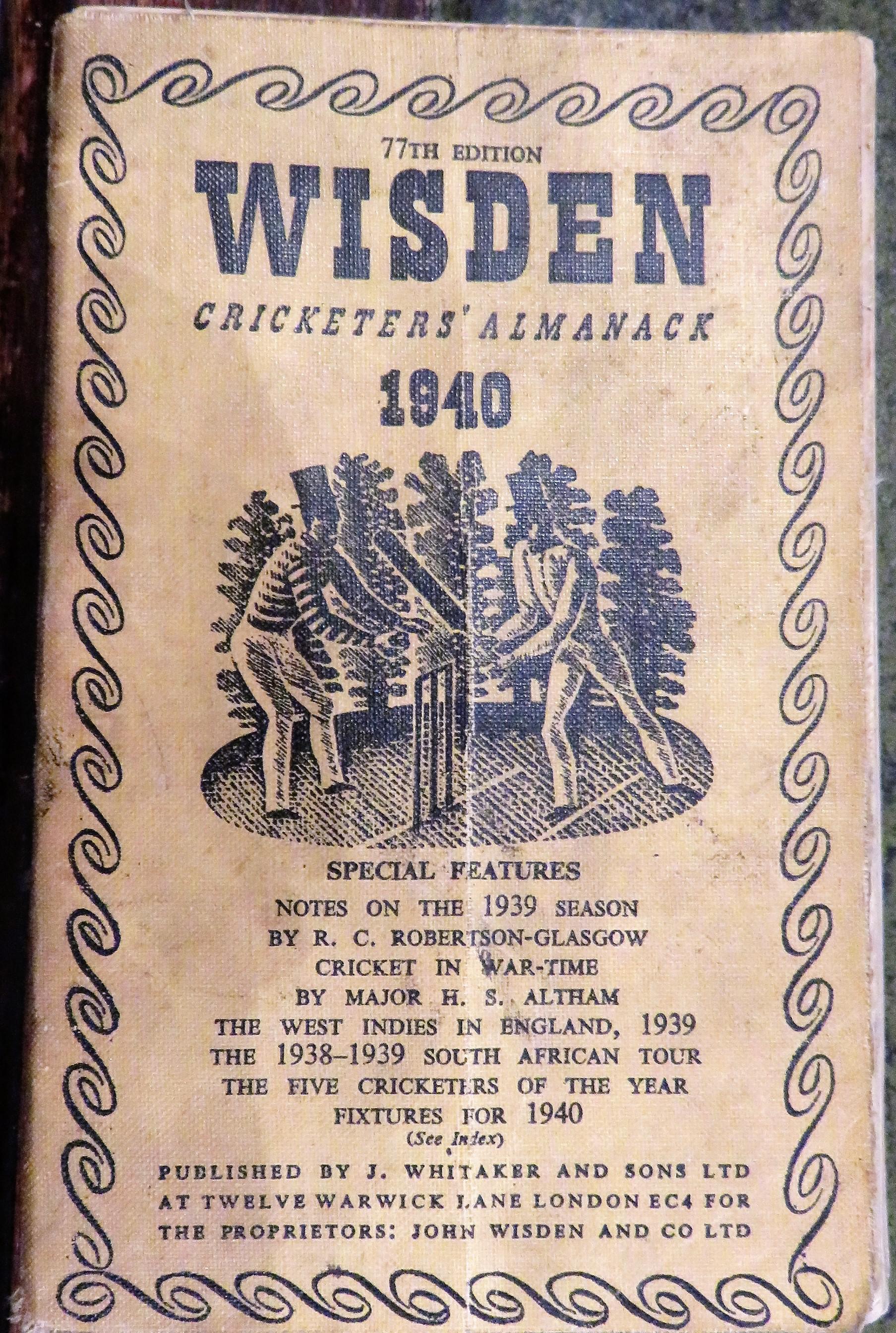 **John Wisden's Cricketers' Almanack For 1940