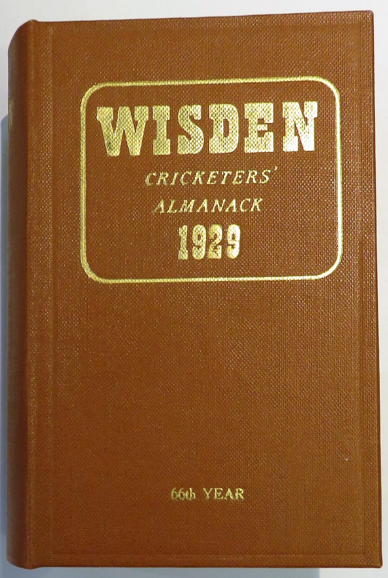 **Wisden Cricketers' Almanack for 1929**