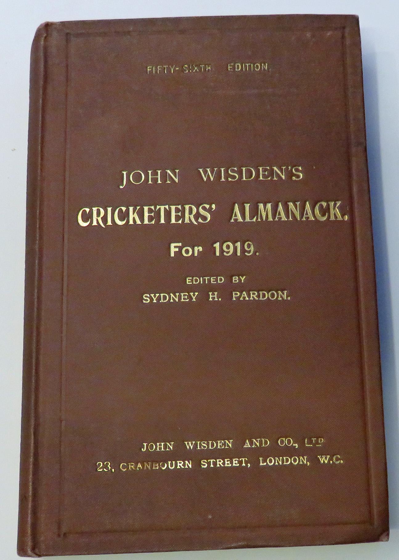 **John Wisden's Cricketers' Almanack For 1919