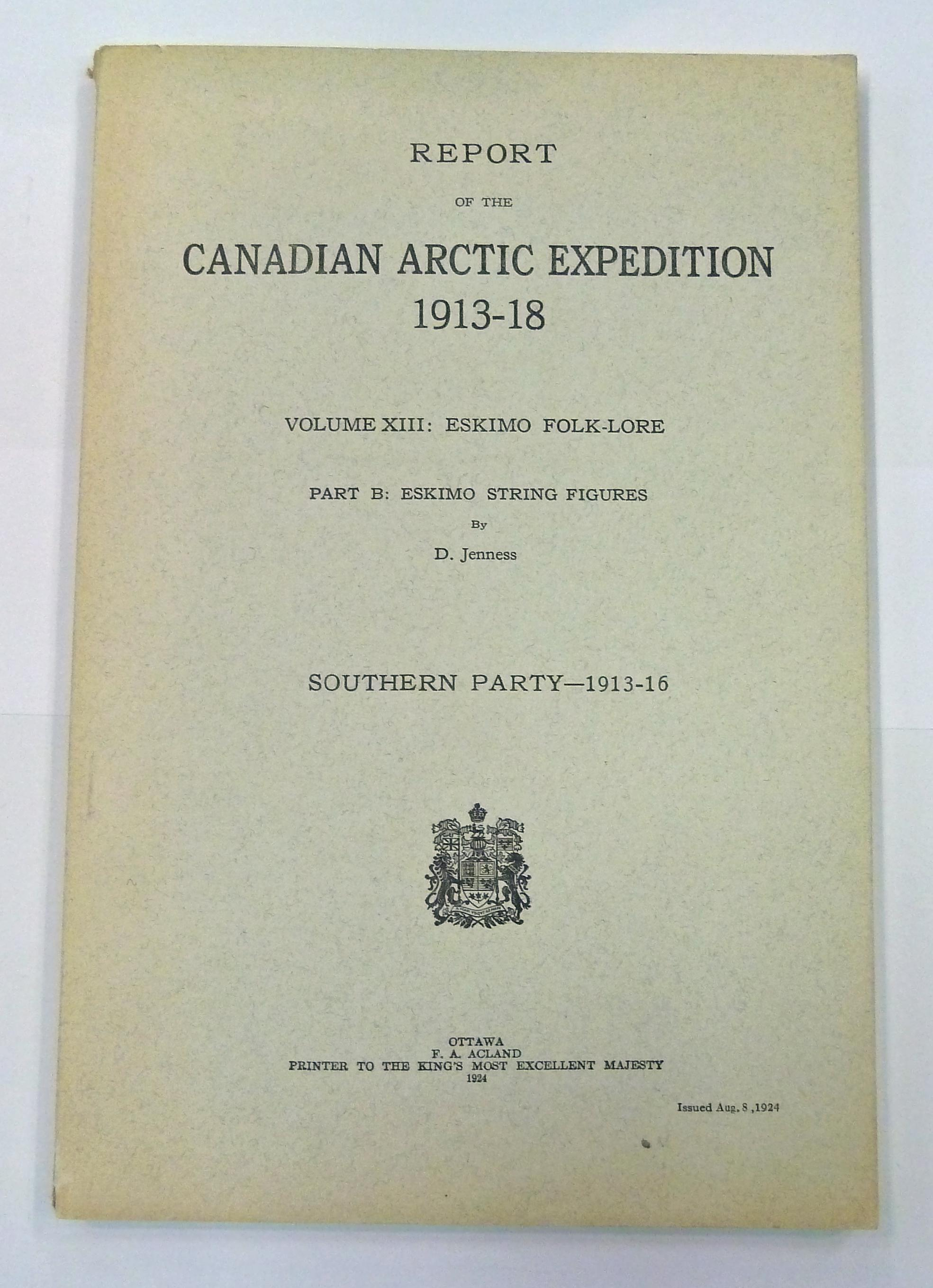 Report of the Canadian Arctic Expedition 1913-18