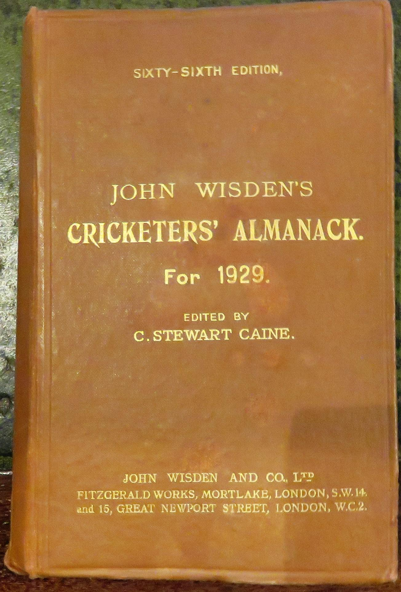 **John Wisden's Cricketers' Almanack For 1929**