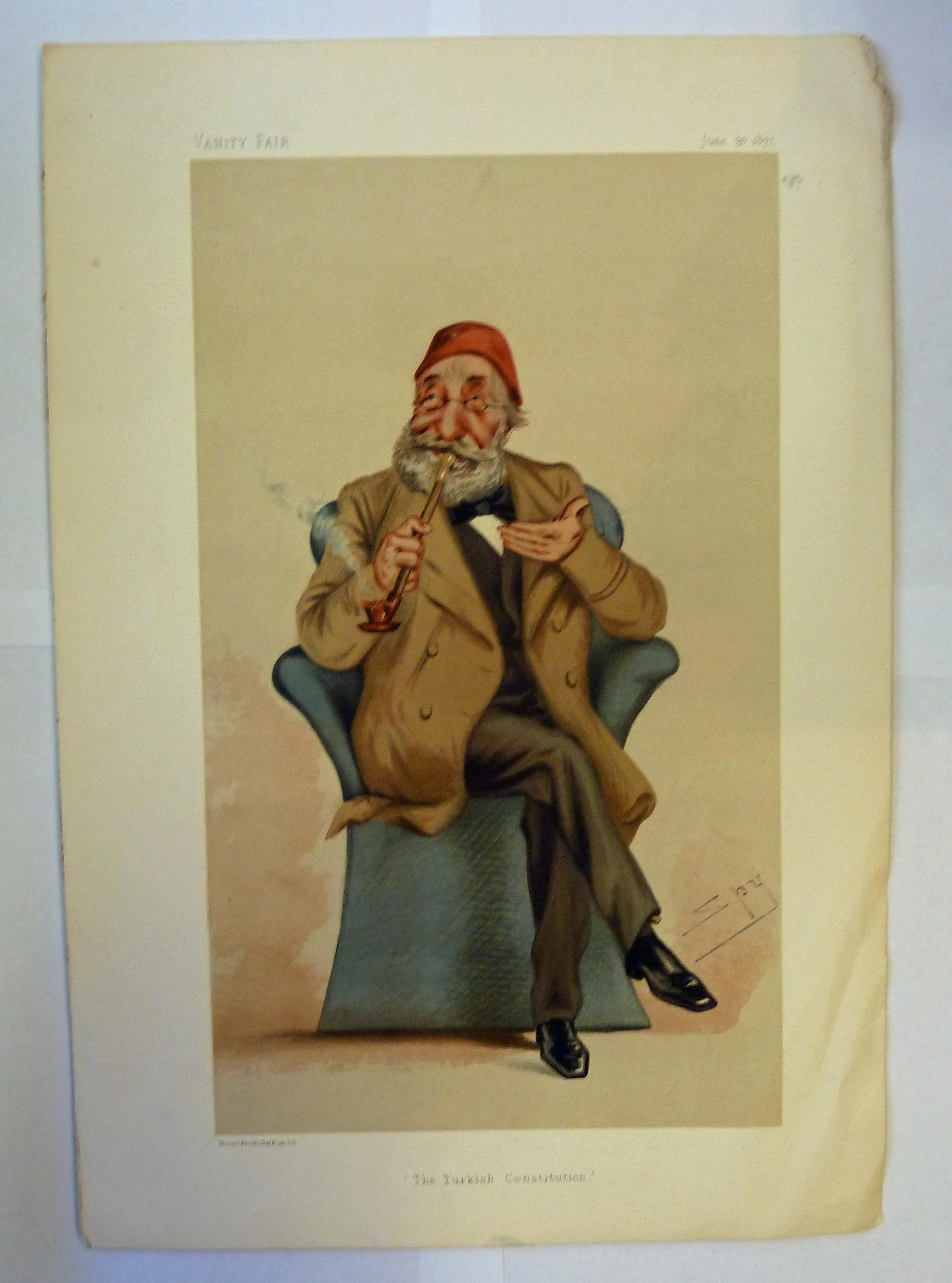 Original Vanity Fair His Highness Midhat Pasha The Turkish Constitution June 30 1877