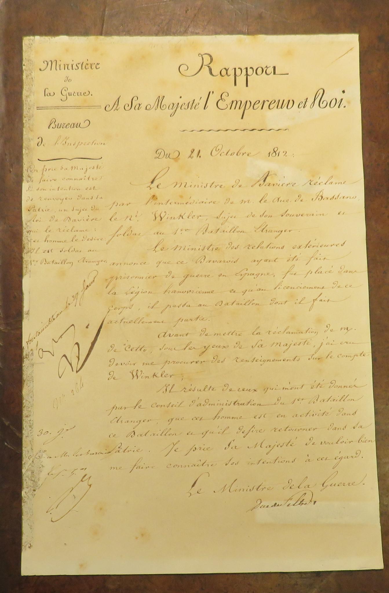 Napoleon Bonaparte Two Signed Reports