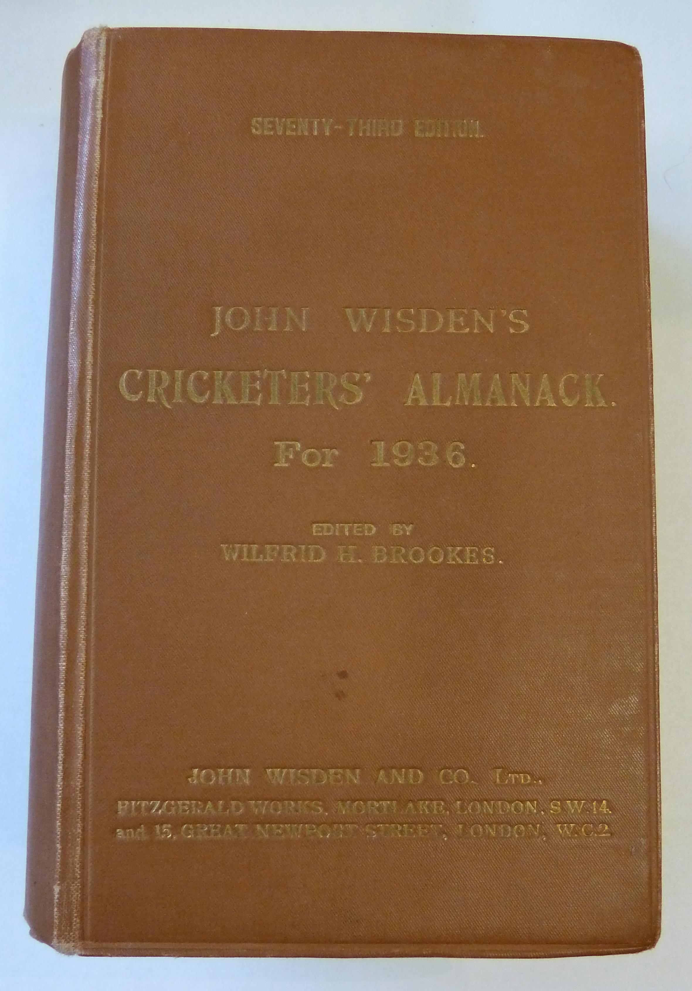 John Wisden's Cricketers' Almanack for 1936