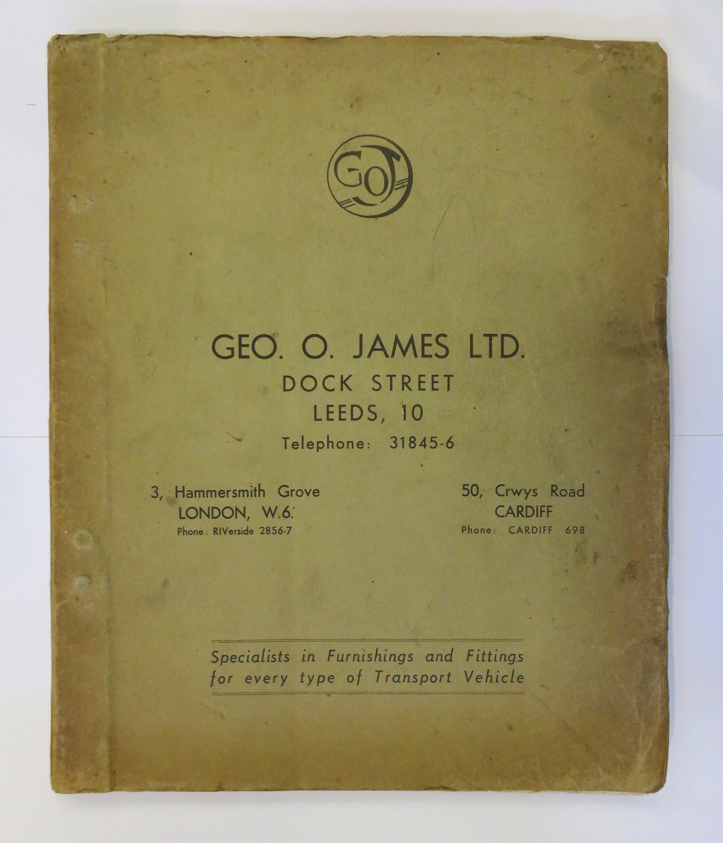 Geo O. James LTD Specialists in Furnishings and Fittings for Every Type of Transport Vehicle
