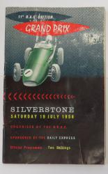 11th R.A.C. British Grand Prix Silverstone Saturday 19 July 1958
