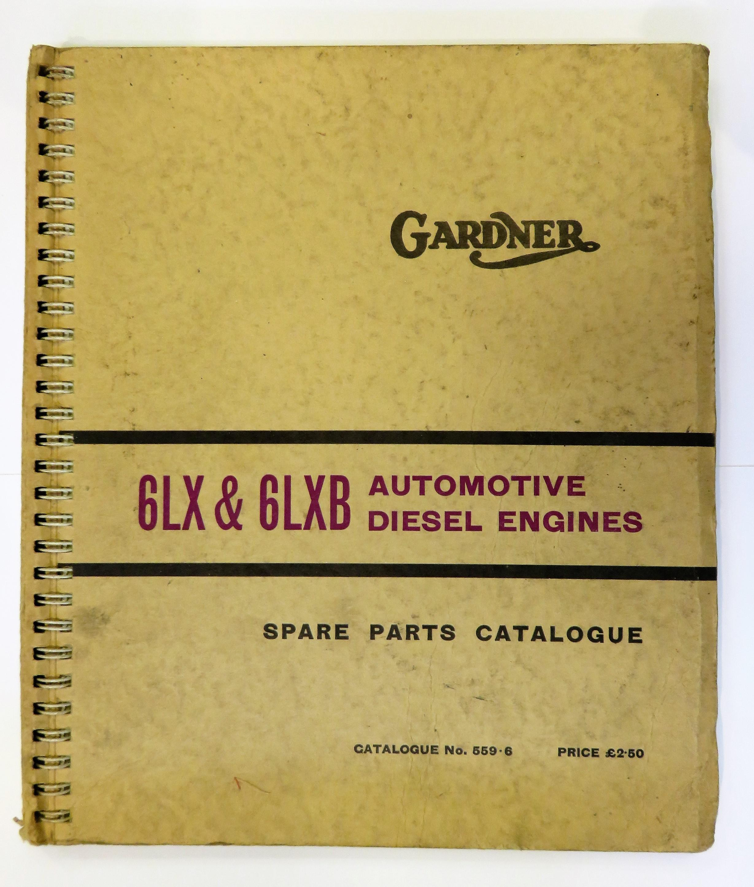 Gardner Spare Parts Catalogue for the 6LX & 6LXB Automotive Diesel Engine