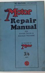 The Motor Repair Manual For Owner Driver & Amateur Mechanic