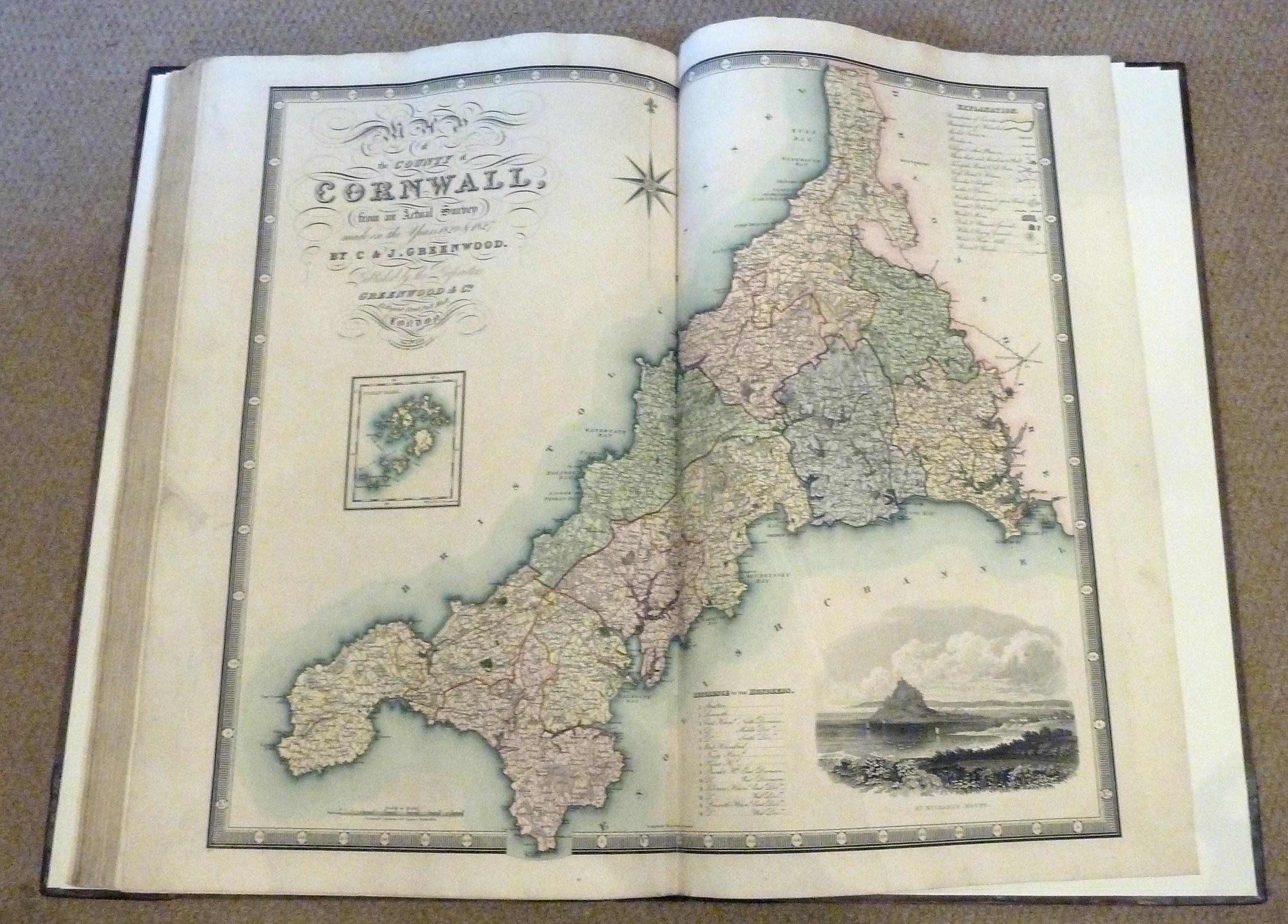 Atlas of the Counties of England from Actual Surveys made from the Years 1817 to 1833 by C & J. Greenwood