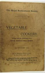 Vegetable Cookery Abridged From the Journal od the Royal Horticultural Society