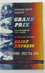 The Seventh R.A.C. British Grand Prix Meeting Silverstone July 17 1954
